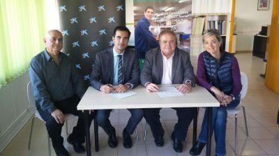 Signatura de col·laboració de TEB Vallès i Fundació bancària La Caixa