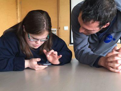 Formacions sobre Whatsapp per a persones amb discapacitat intel·lectual del cicle TEBnològics
