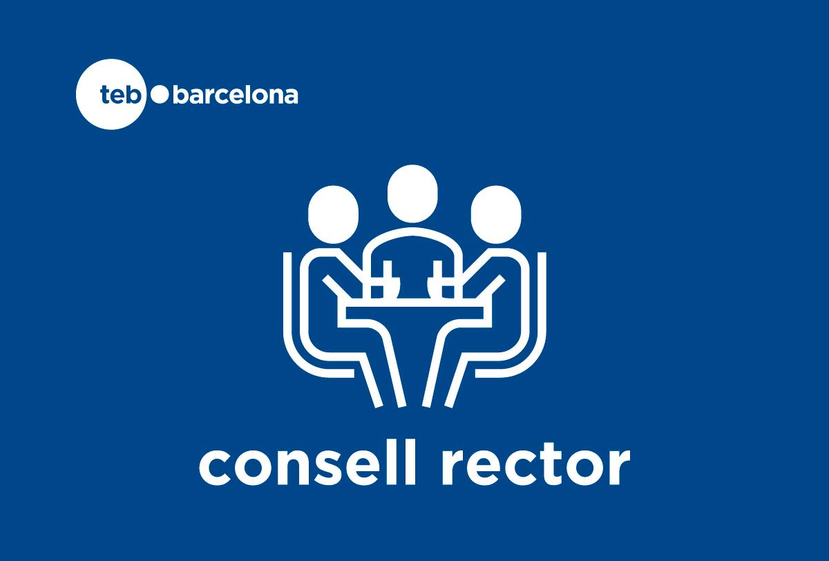 Logotip Consell Rector TEb Barcelona