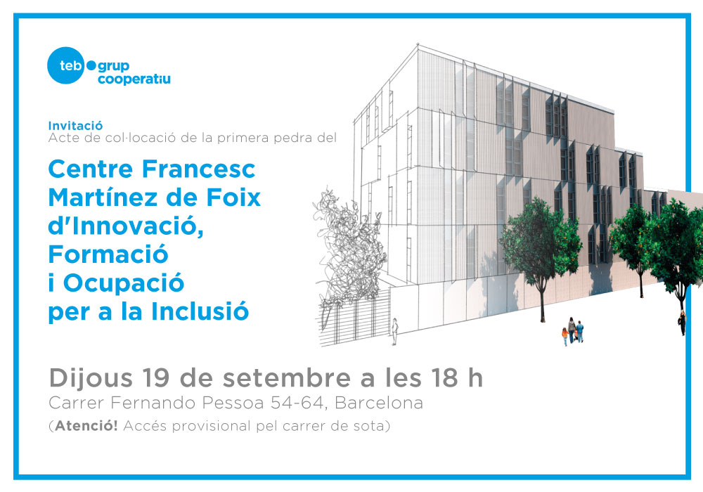 Invitació Acte Primera Pedra Centre Francesc Martínez de Foix