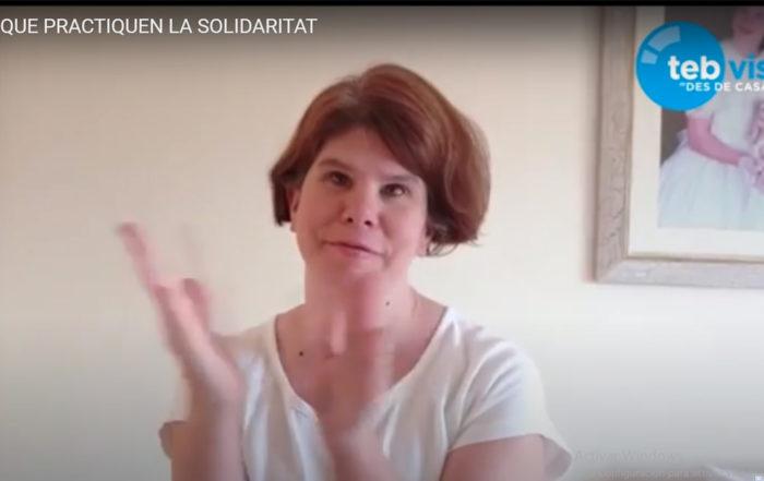 Imatge d'una de les presentadores del TEB Vist