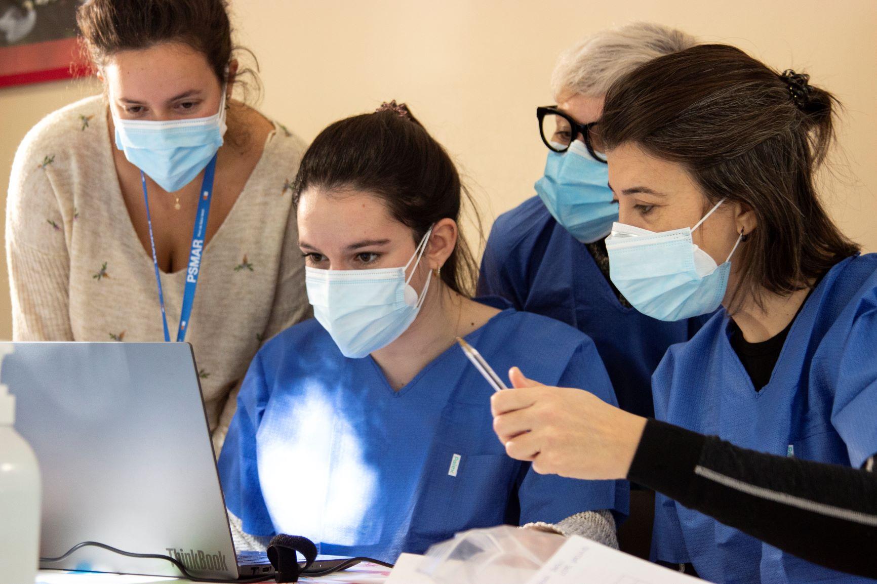 Les infermeres a la Llar Residència de Barceloneta