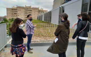 Visita a la coberta verda de Centre Francesc martínez de Foix